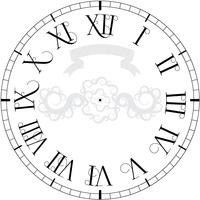 Vektor Vintage Uhr