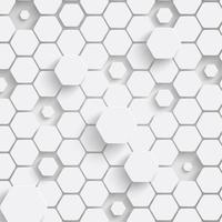 Papper hexagon bakgrund med drop skuggor. Vektor illustration