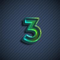 Glasiges Zeichen des Gusses 3D, Vektorillustration vektor
