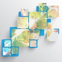 Färgrik mall för reklam, vektor illustration