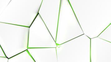 Unterbrochene Oberfläche mit grüner Farbe im Inneren, Vektorillustration