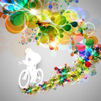 Bunte Radfahrervektorabbildung