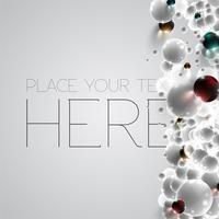 Färgglada och vita bubblor bakgrund, vektor