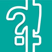 Ein Fragezeichen und ein Ausrufezeichen aus Papier, Vektor