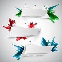 Färgglada skylt för reklam, vektor