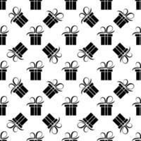 nahtloses Muster der schwarzen Geschenkbox vektor