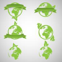 Grön värld ekologi begrepp, vektor