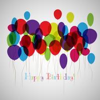 Vektor-Illustration einer alles- Gute zum Geburtstaggrußkarte vektor