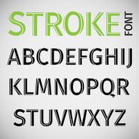 Stroke-Schrift, Vektor