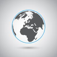 Weltvektorsymbol, flaches Design
