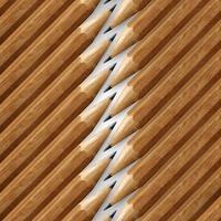 Realistiska träpennor, vektor