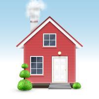 Realistiskt hus, vektor