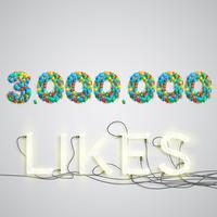 Antal gillar gjorda av ballong, vektor illustration