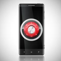 Telefon säkerhet illustration, vektor
