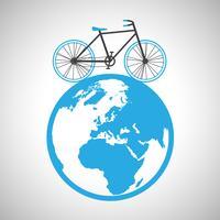 Fahrrad rund um den Globus, Vektor