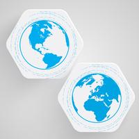 Blå jorden vektor symbol