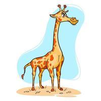 Tierfigur lustige Giraffe im Cartoon-Stil. vektor
