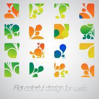 Abstrakta logotyper för ditt företag, vektor