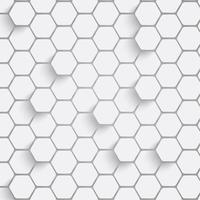 Papierhexagonhintergrund mit Schlagschatten. Vektor-Illustration