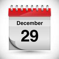 Kalender för december, vektor