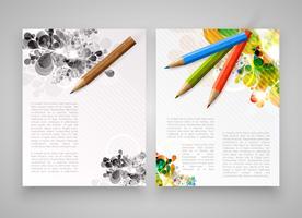 Bunte realistische Schablonen für die Werbung oder Darstellung, Vektorillustration