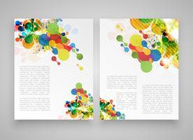 Färgglada realistiska mallar för reklam eller presentation, vektor illustration