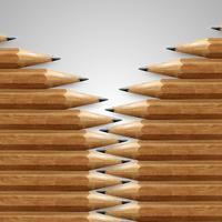 Realistische hölzerne Bleistifte, Vektor