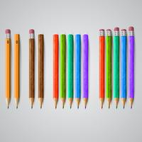 Bunte Bleistifte, Vektor