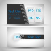 Abstrakt visitkort främre och bakre design