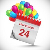 Kalender für Chritmas, Vektor
