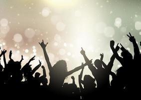 Partymenge auf Bokeh-Lichterhintergrund 2107 vektor