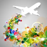 Bunte Flugzeug- / Fliegenvektorabbildung