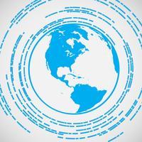 Blaues Erdvektorsymbol