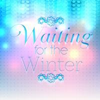 """""""Väntar på han vinter"""" affisch, vektor illustration"""
