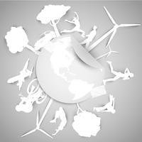 Papier-ECO-Vektor-Illustration