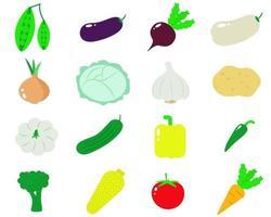 Satz von Gemüse-Vektor-Illustration vektor