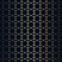 Vektor blommig linje stil svart bakgrund, sömlös monogram design mönster.