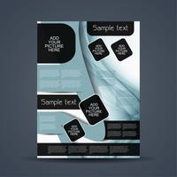 Abstrakt affärsmall broschyr