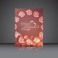 Modernt valentins dag elegant broschyrmall
