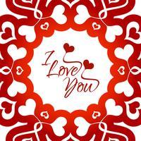 Moderner glücklicher Valentinstaghintergrund