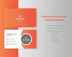 bunter Farbverlauf kreativer Corporate Business Identity ID-Kartenvektor vektor