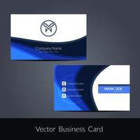 Moderna visitkort mall vektor