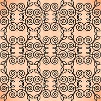 Vektor blommig linje stil bakgrund, sömlös monogram design mönster.