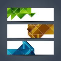 Sammanfattning moderna banderoller uppsättning vektor