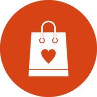 Vektor shopping väska ikon
