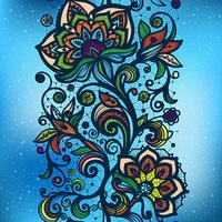 Lacy sömlöst mönster full av färg