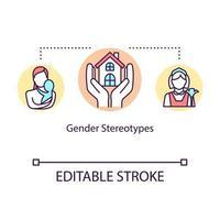 Symbol für das Konzept von Geschlechterstereotypen vektor