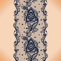 Vektor Abstrakt sömlöst mönster med spetsar och blommönster