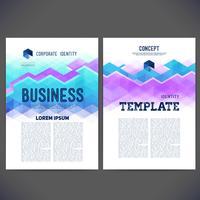 Abstrakt vektor mall design, broschyr