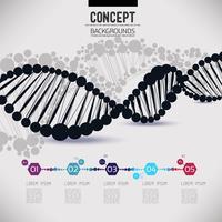 Abstrakt svart geometrisk gitter DNA vektor